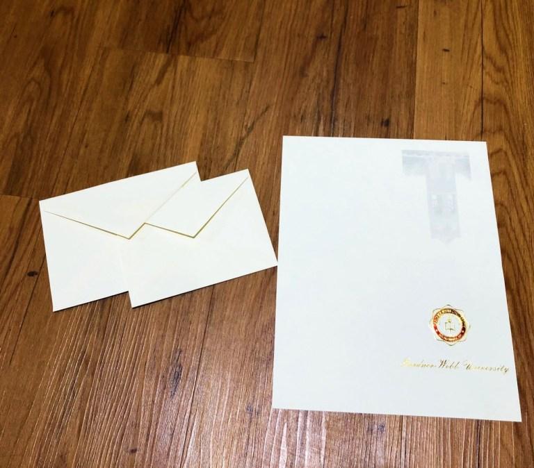 graduation announcement with envelope chelsea paper