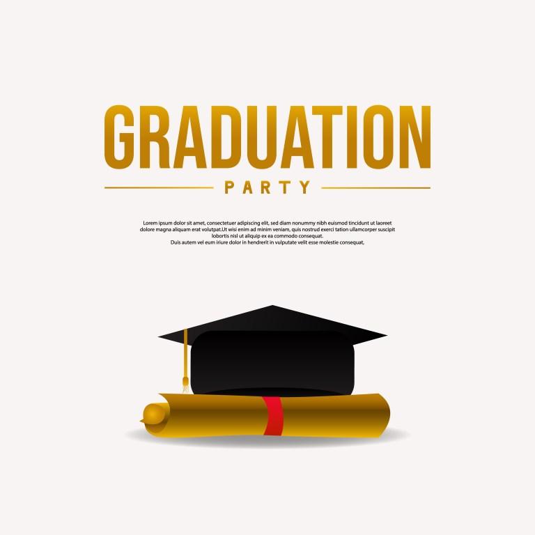 graduation invitation card free vector art 642 free