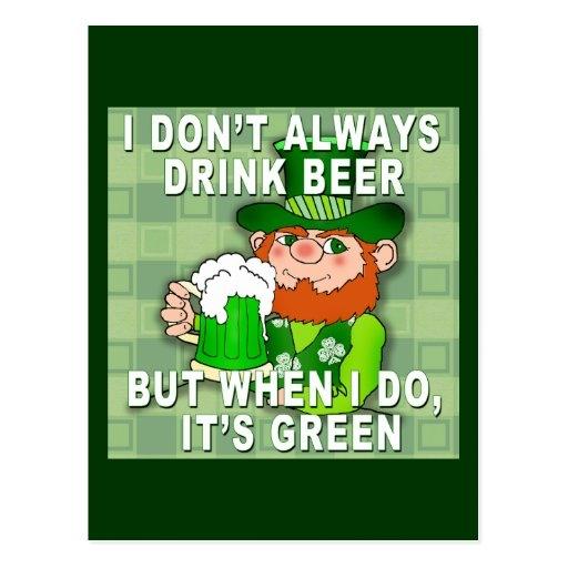 green beer for st patricks day meme humor postcard zazzle