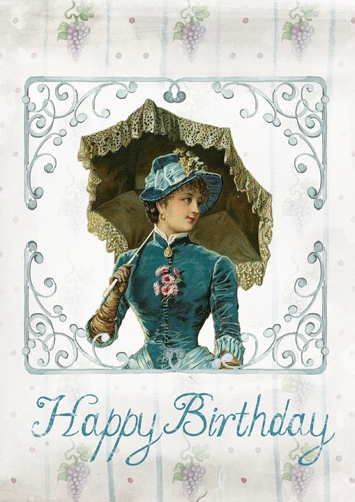 greeting card birthday vintage free image on pixabay