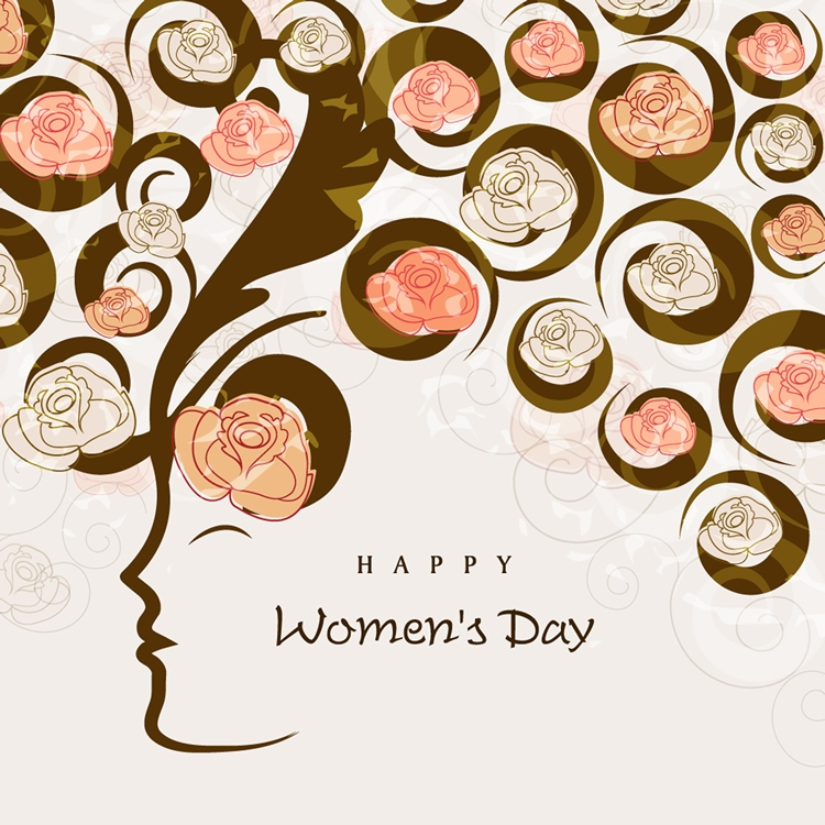 happy womens day 6 free vector graphic download