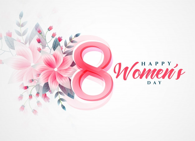 happy womens day beautiful greeting background free vector