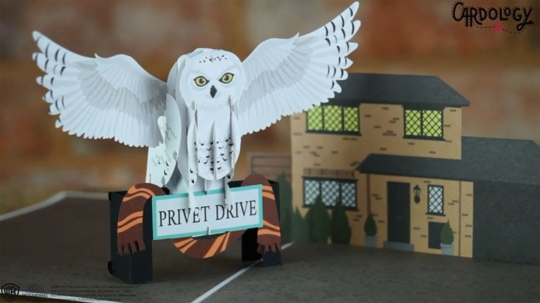 harry potter hedwig christmas birthday card collectable