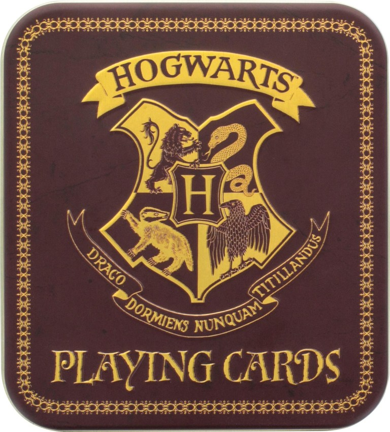 harry potter playing cards browngold