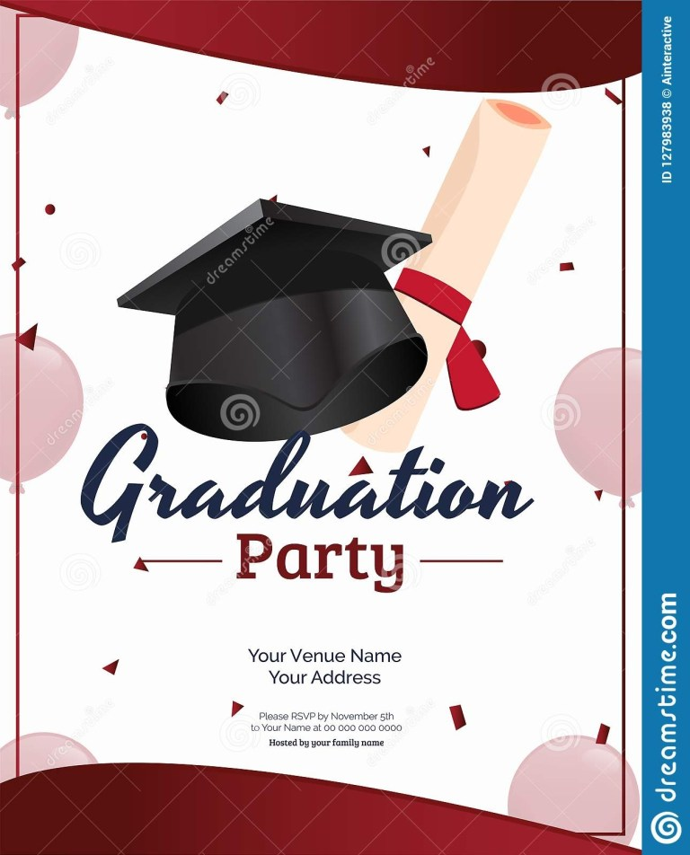 invitation card or template design with illustration of