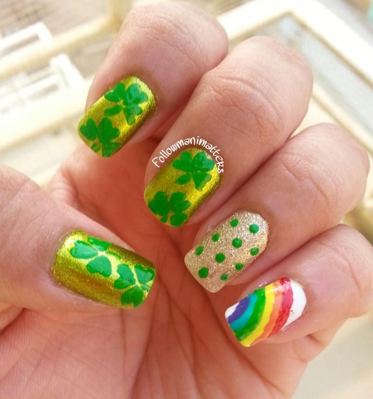 manishas followmanimatters st patricks day nails