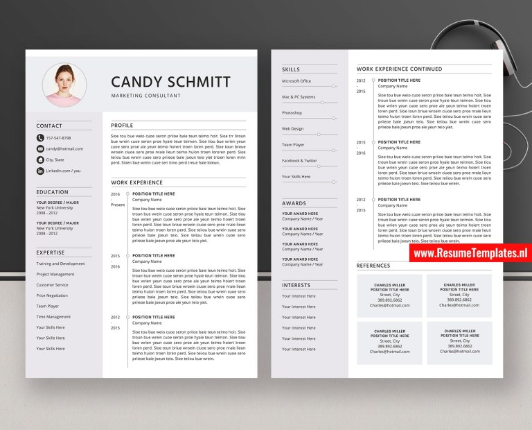 modern resume templates cv templates cover letter ms