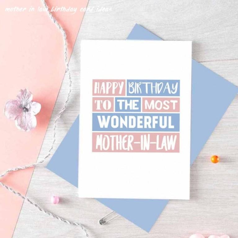 mother in law birthday card happy birthday mum in law card