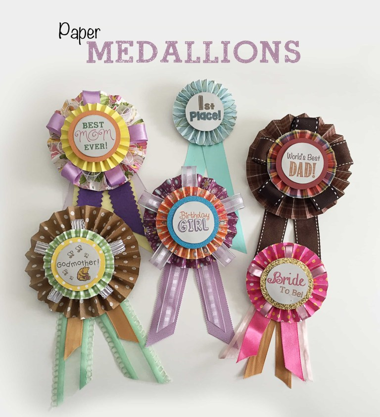 paper medallion pins crafting cheerfully