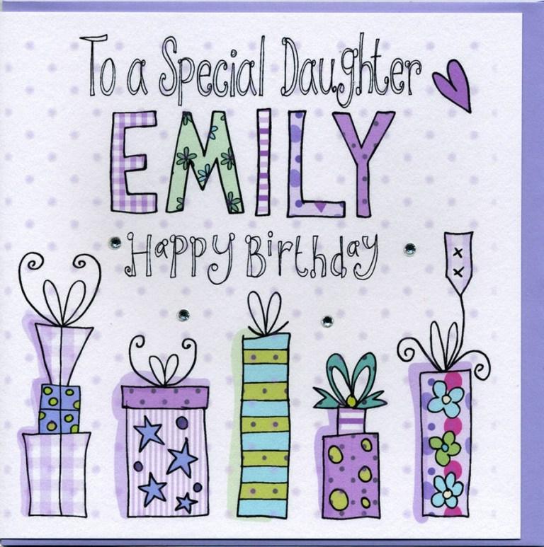 personalised daughter birthday card