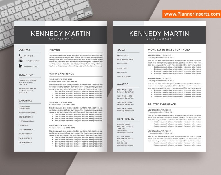 professional resume template word cv template cv format