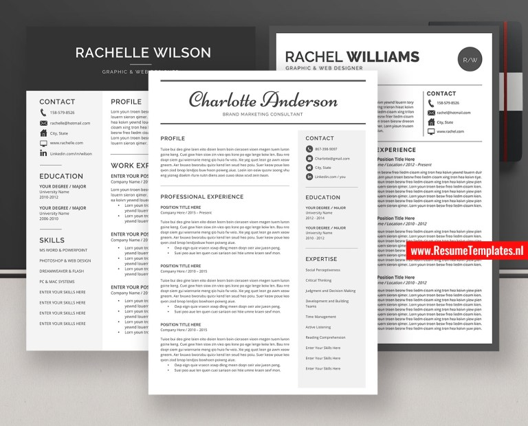 professional resume templates cv templates cover letter