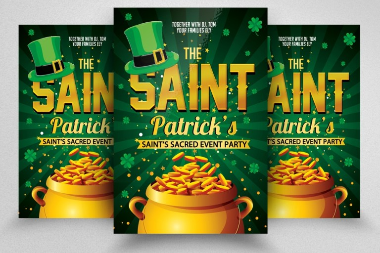 saint patricks day flyer 224602 flyers design bundles