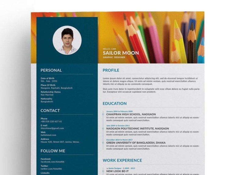 trendy creative resume template free psd 2020 maxresumes