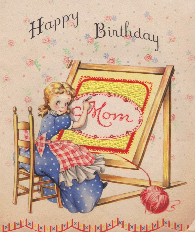 two crazy crafters a vintage birthday card and a party