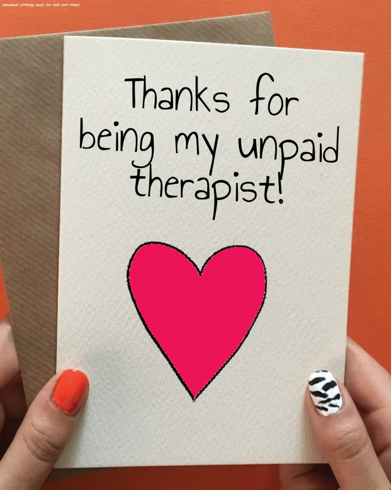 unpaid therapist birthday cards for friends diy gifts