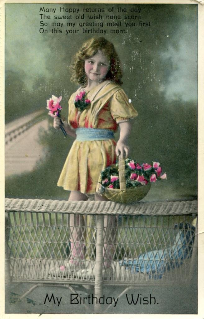 vintage birthday postcards featuring children part 3