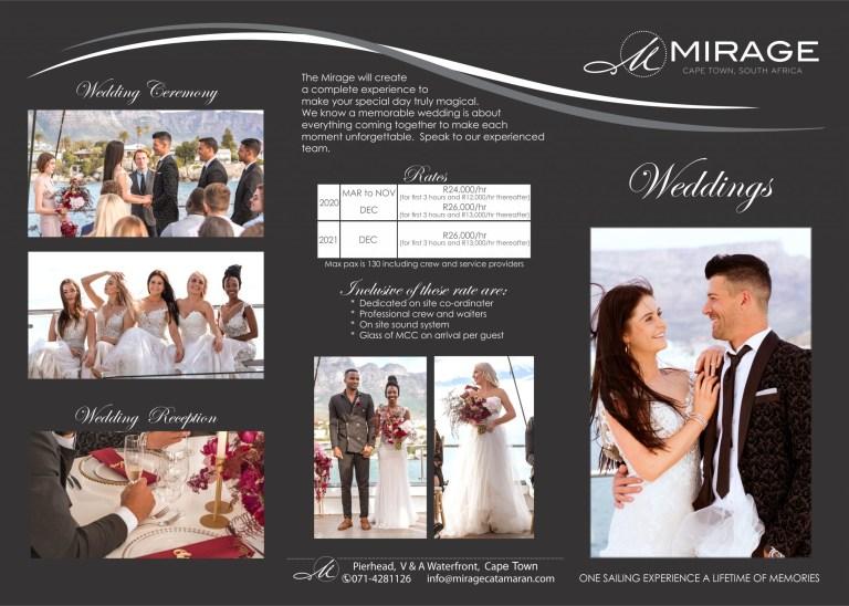 wedding brochure mirage catamaran