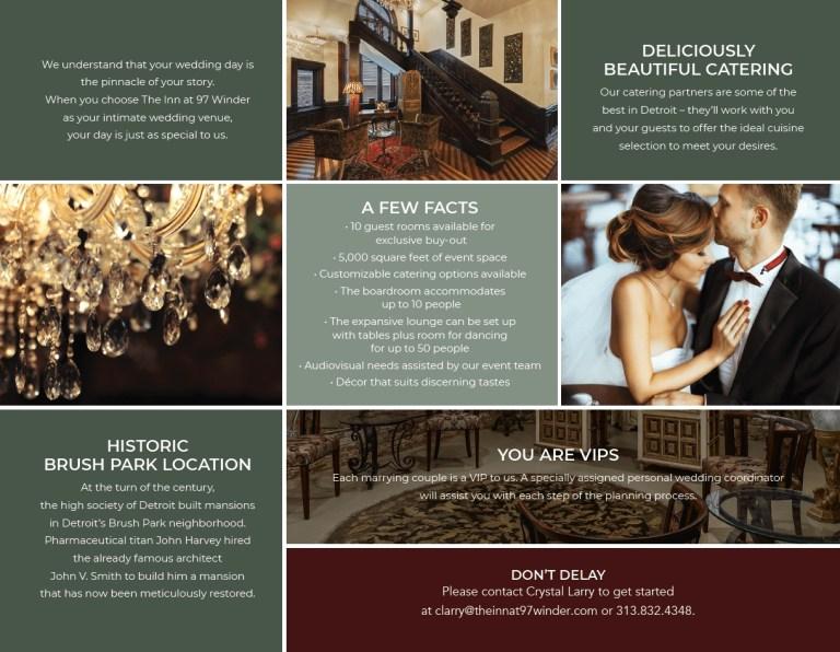 wedding venue brochure season love