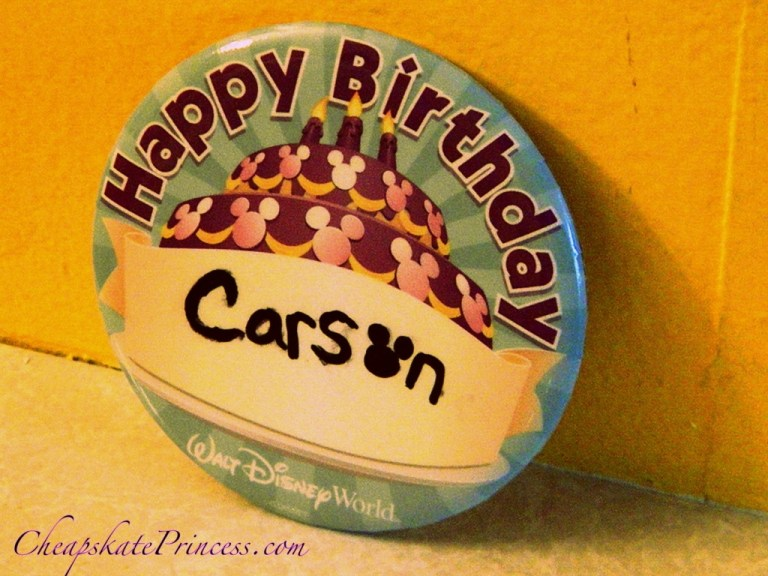 why celebrate with a birthday button at disney world let a