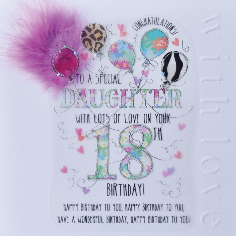 wjb cloud 9 daughter 18th birthday card