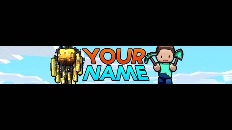 7 free minecraft youtube bannerchannel art template