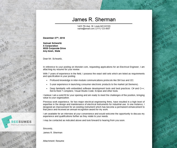 a compelling cover letter example for engineering roles