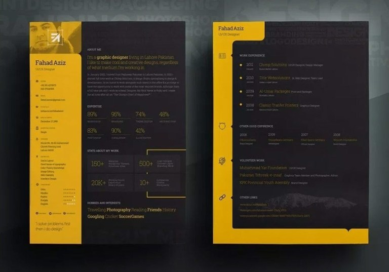 attractive resume template free download 2020 maxresumes
