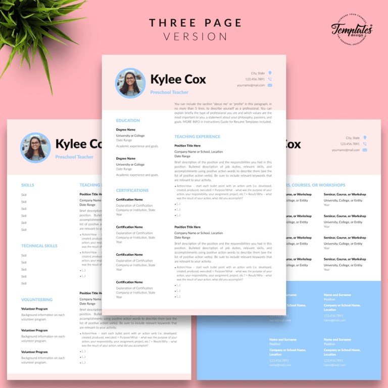beautiful resume for teacher kylie cox templates