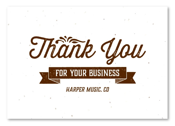 business thank you cards on seeded paper house blend