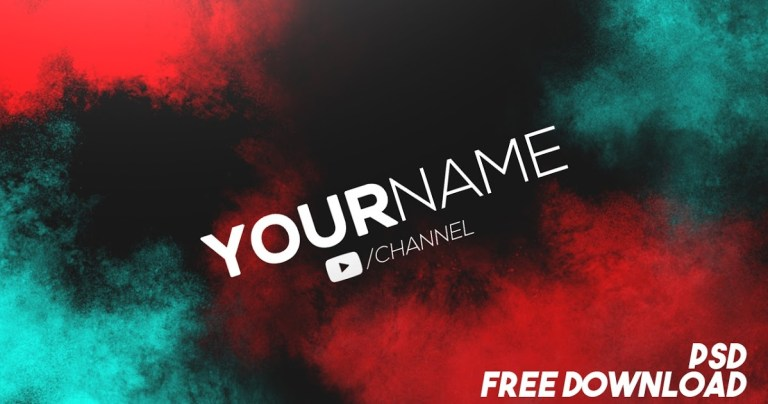 clean banner template free gfx youtube channel art