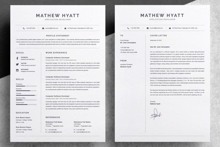 clean resume cv template 654013 resume templates