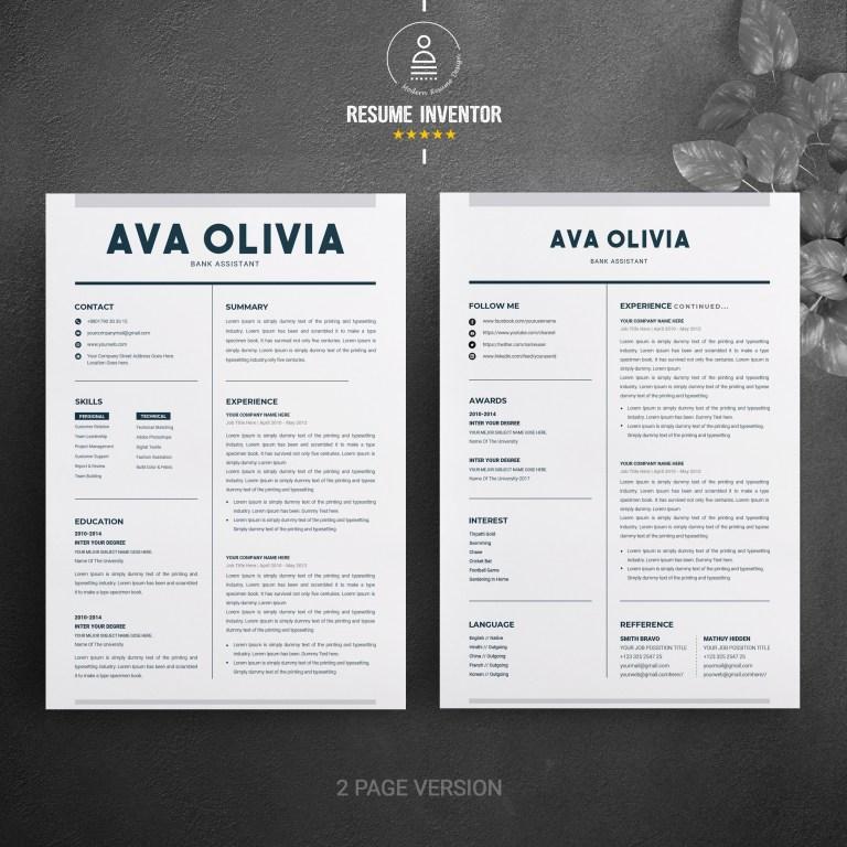clean resume template word cv design resume template cv