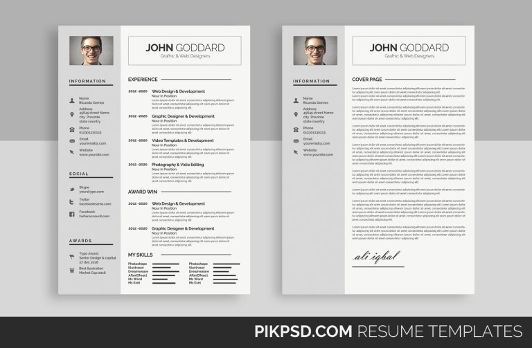 clean resumecv 50961 resume templates design bundles