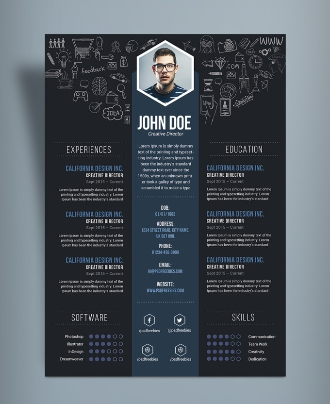 create and design a creative cv and resume tuguldurt