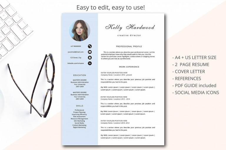 creative resume template printable resume 34839