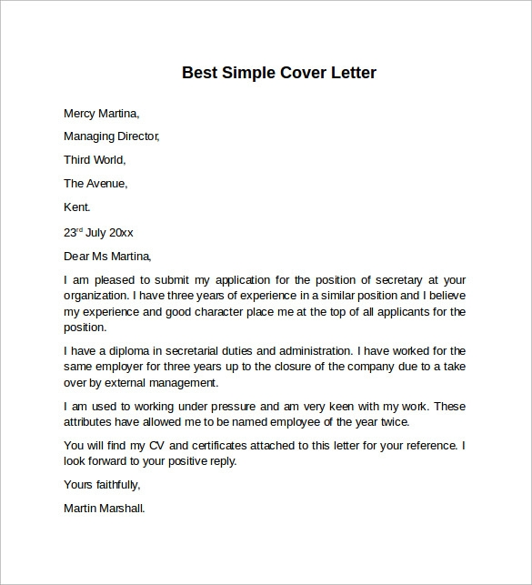 free 7 sample cover letter templates in pdf ms word