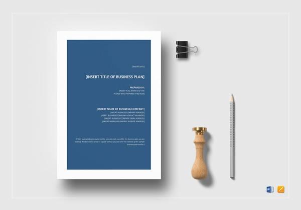 free 8 sample sba business plan templates in pdf ms word