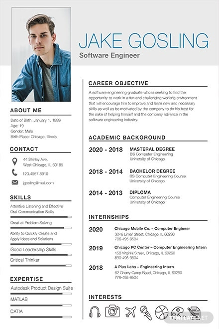 free resume templates download ready made template