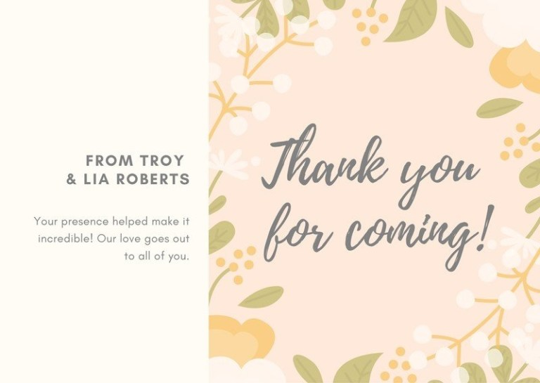 free wedding thank you cards templates to customize canva