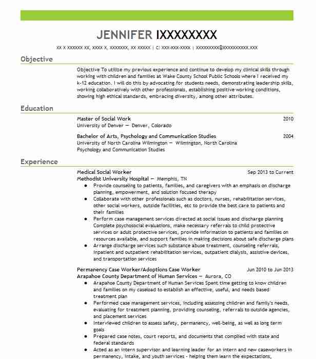 medical social worker resume sample worker resumes
