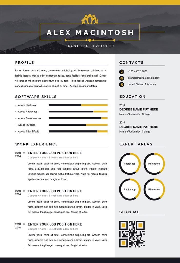 modern resume word template modern downloadable cv ms word