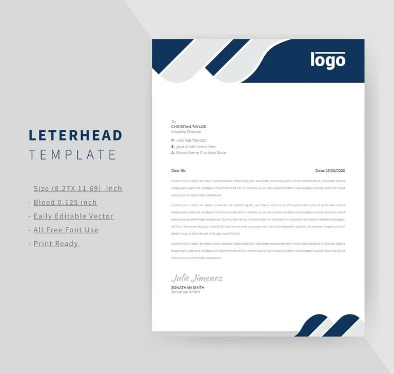 navy company letterhead design download free vectors