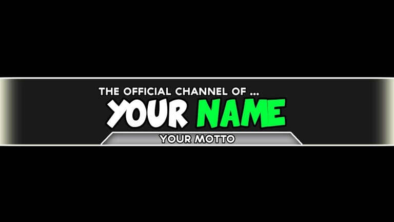 photoshop channel art template download youtube