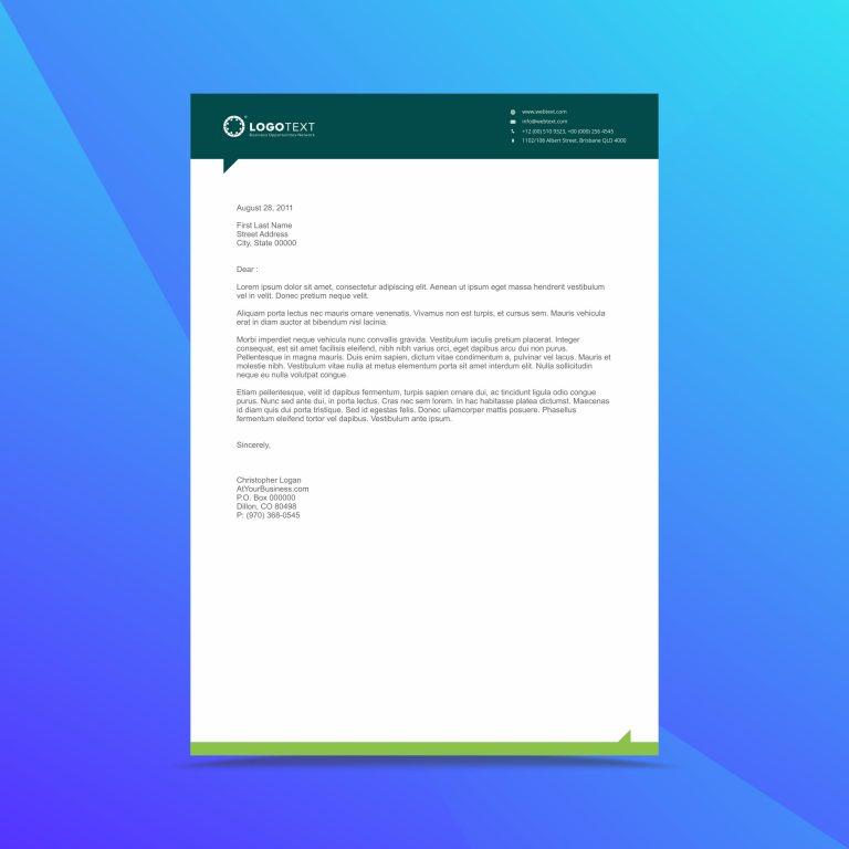 professional business letterhead design template