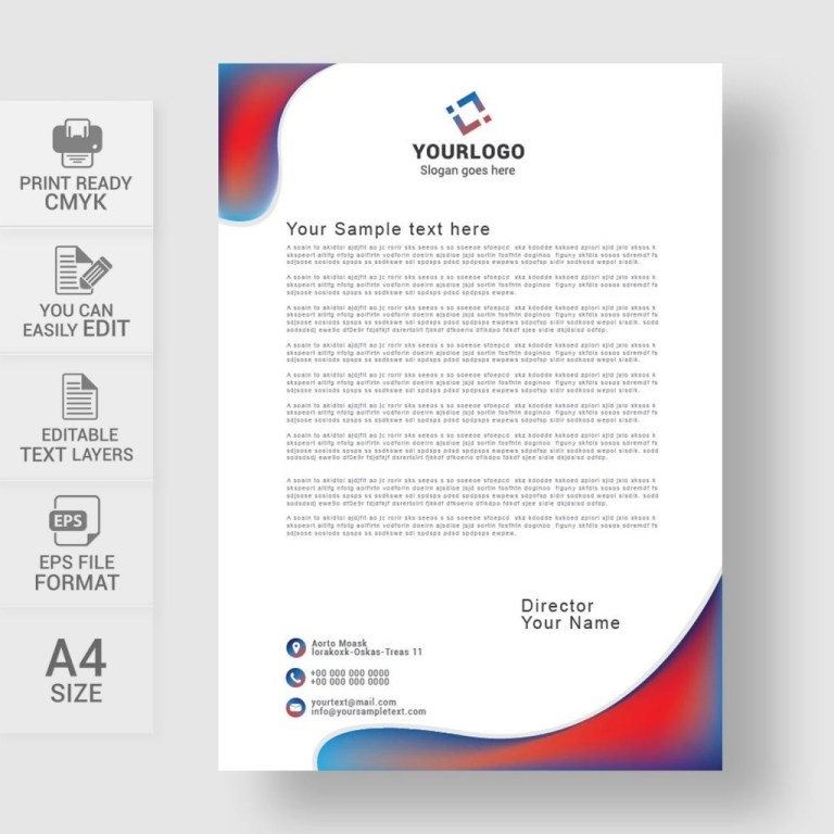 professional business letterhead template free download