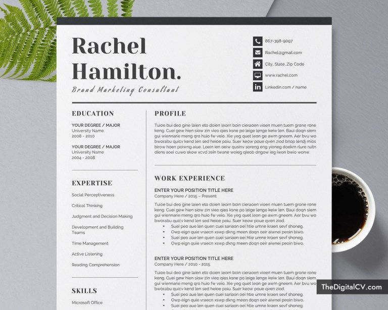 professional resume template cover letter curriculum