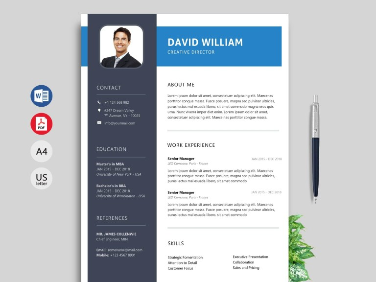 rush modern resume template ms word format resumekraft