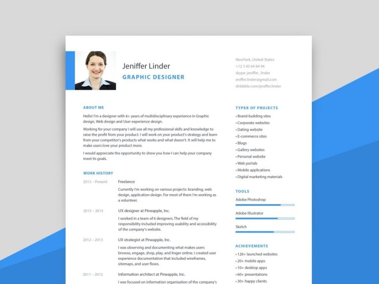 simple modern resume template with cover letter resumekraft