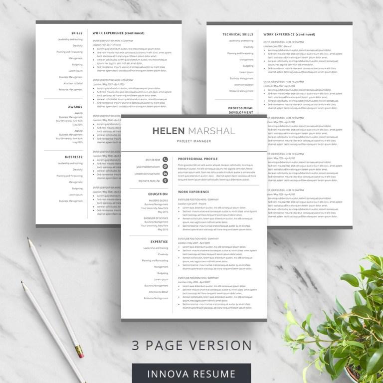 simple resume template for word innova resume modern